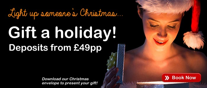 Gift a Holiday! - Deposits from £49pp